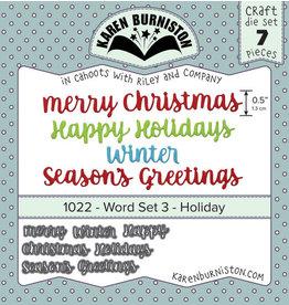 Karen Burniston Karen Burniston word set 3  Holiday  1022