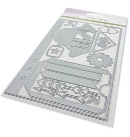 Craft Emotions CraftEmotions Die - Planner essentials S-1 Card 12x20,5cm