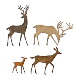 Sizzix Sizzix Thinlits Die Set - 4PK Darling Deer 664968 Tim Holtz
