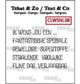 Crealies Crealies Clearstamp Tekst & Zo woordstrips Ik wens jou een... (NL) CLWSNL08 5x4x44 mm