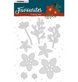 Studio Light Studio Light Embossing Die Cut Stencil Winter's Favourites nr.332 STENCILSL332