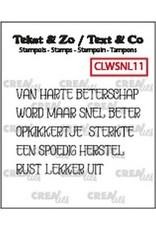 Crealies Crealies Clearstamp Tekst & Zo woordstrips Beterschap (NL) CLTZWSNL11 5x4x44mm