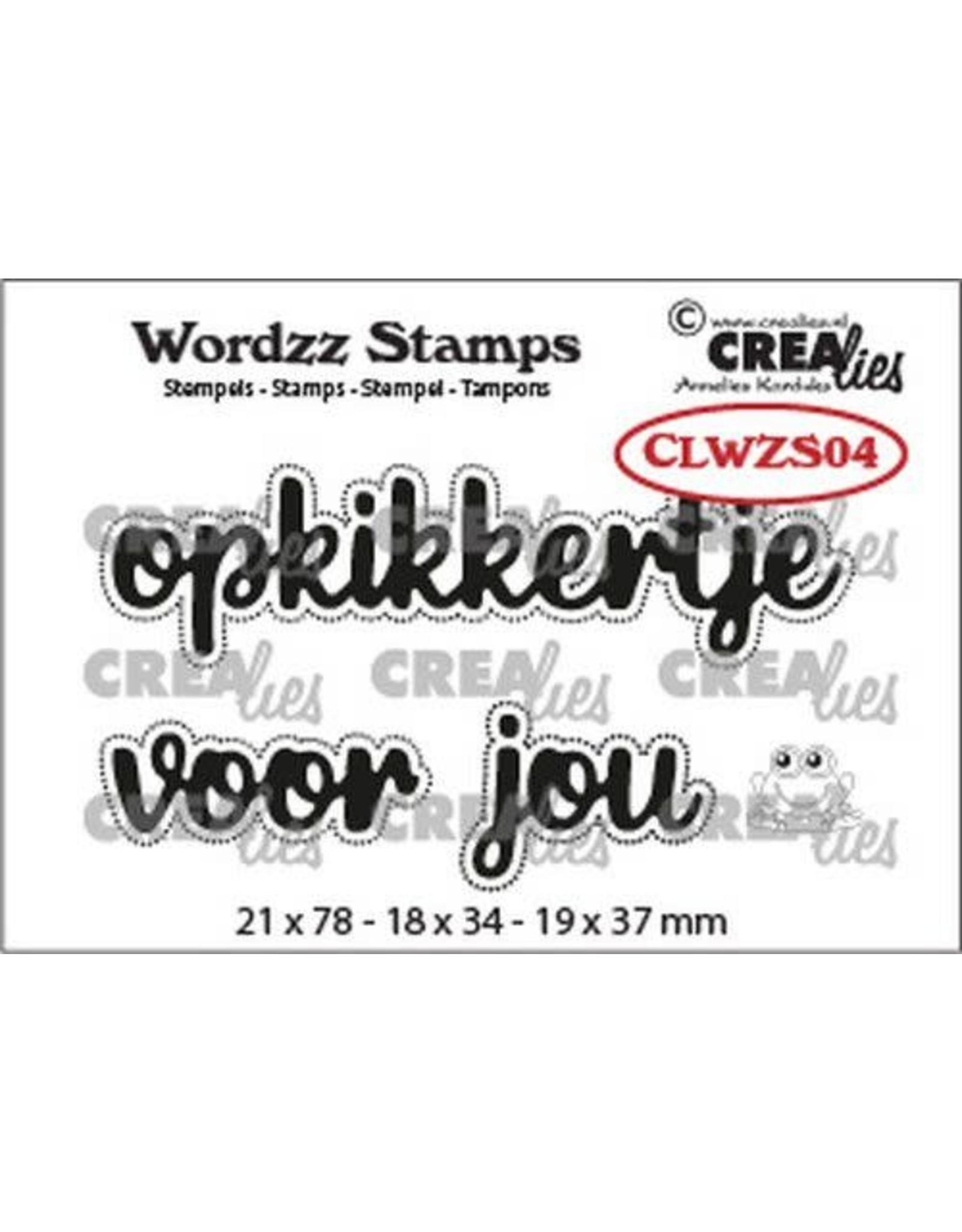 Crealies Crealies Clearstamp Wordzz Opkikkertje voor jou (NL) CLWZS04 21x78mm