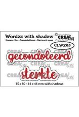 Crealies Crealies Wordzz with Shadow Gecondoleerd sterkte (NL) CLWZ05 15x80mm