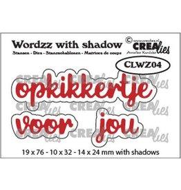 Crealies Crealies Wordzz with Shadow opkikkertje voor jou (NL) CLWZ04 19x76mm