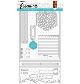 Studio Light Studio Light Embossing Die Cut Stencil Journal Essentials nr.342 STENCILSL342 160x297mm
