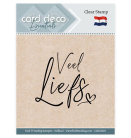 Card Deco Card Deco Essentials - Clear Stamps - Veel Liefs