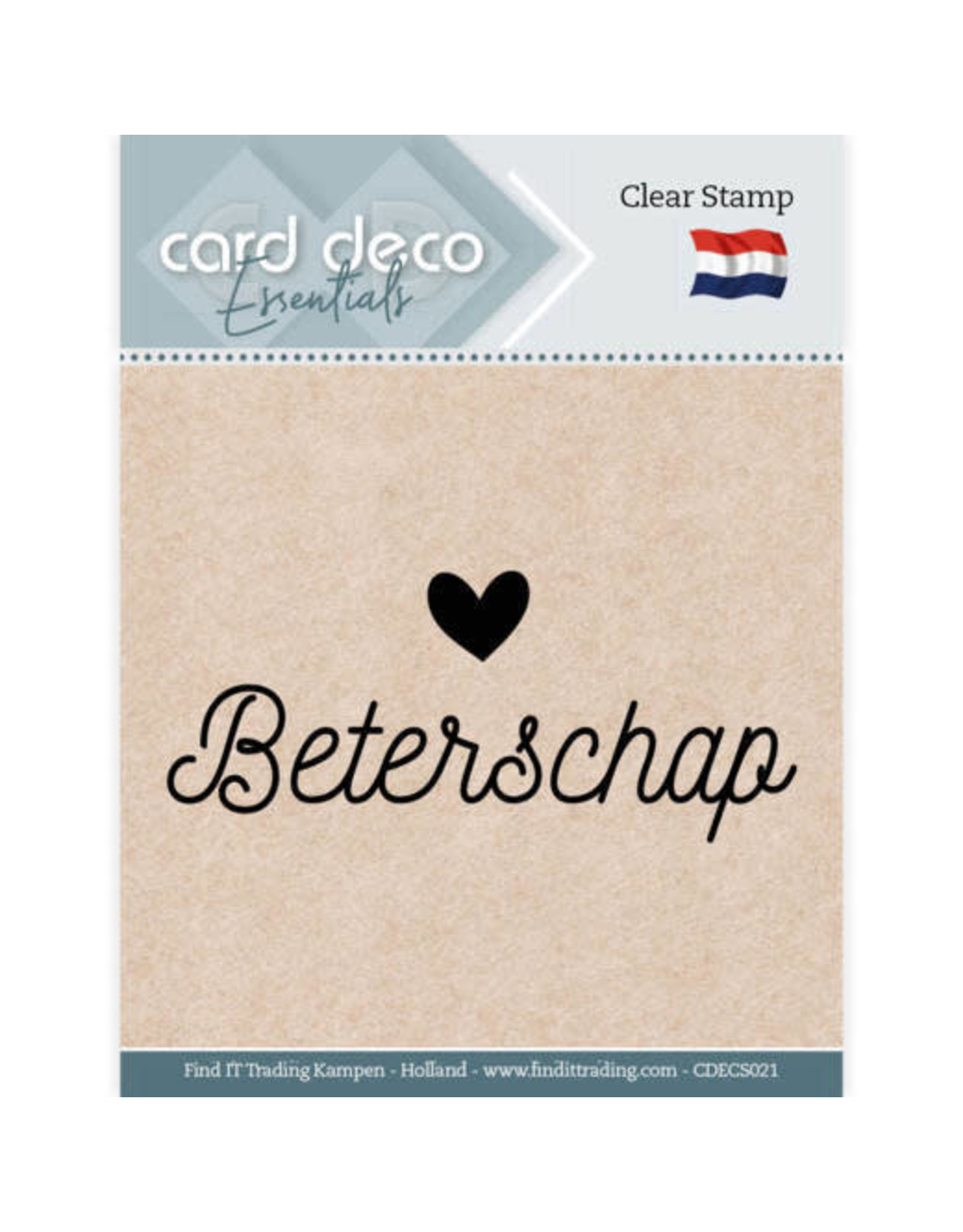Card Deco Card Deco Essentials - Clear Stamps - Beterschap
