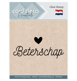 Card Deco Card Deco Essentials - Clear Stamps - Beterschap