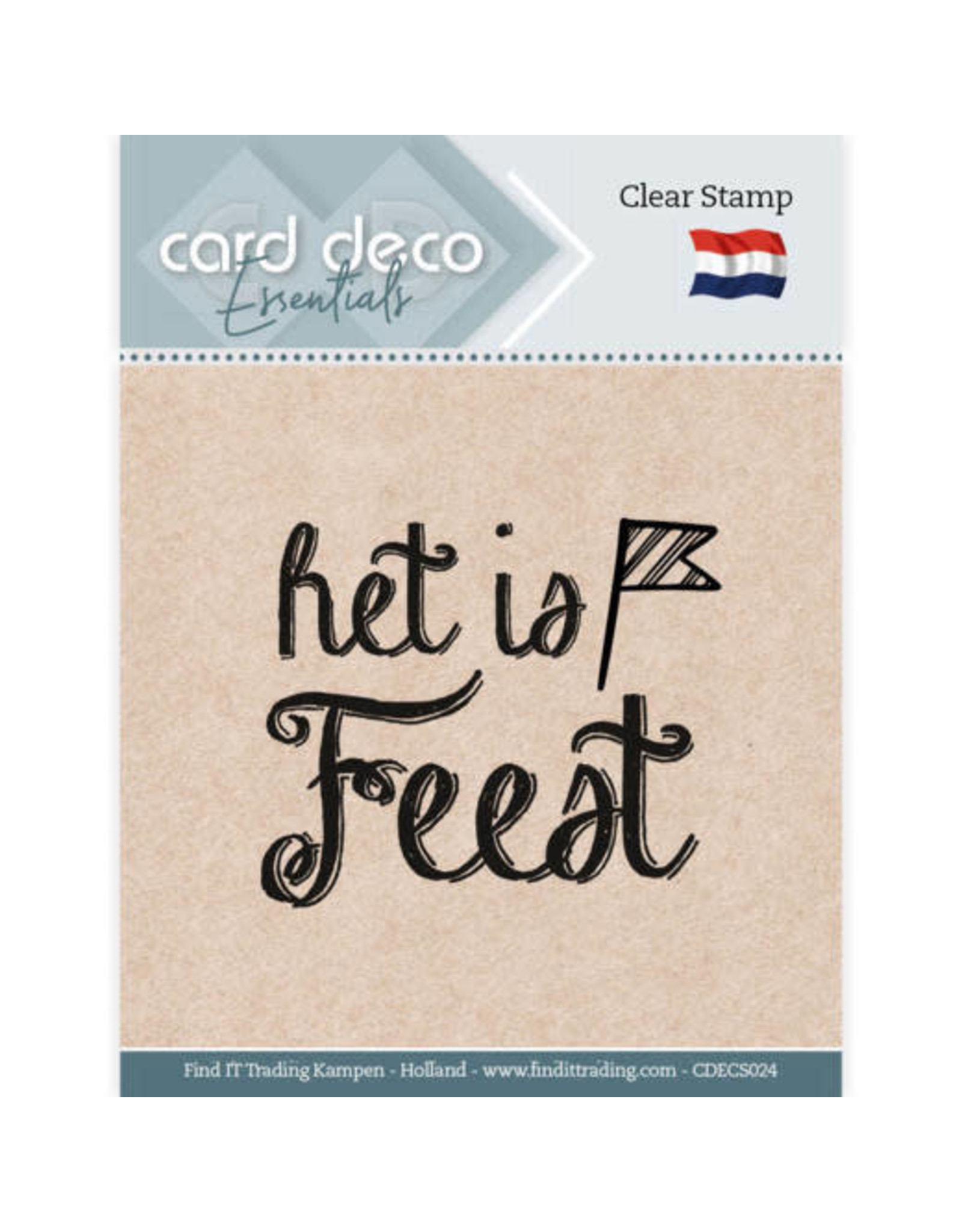 Card Deco Card Deco Essentials - Clear Stamps - Het is Feest
