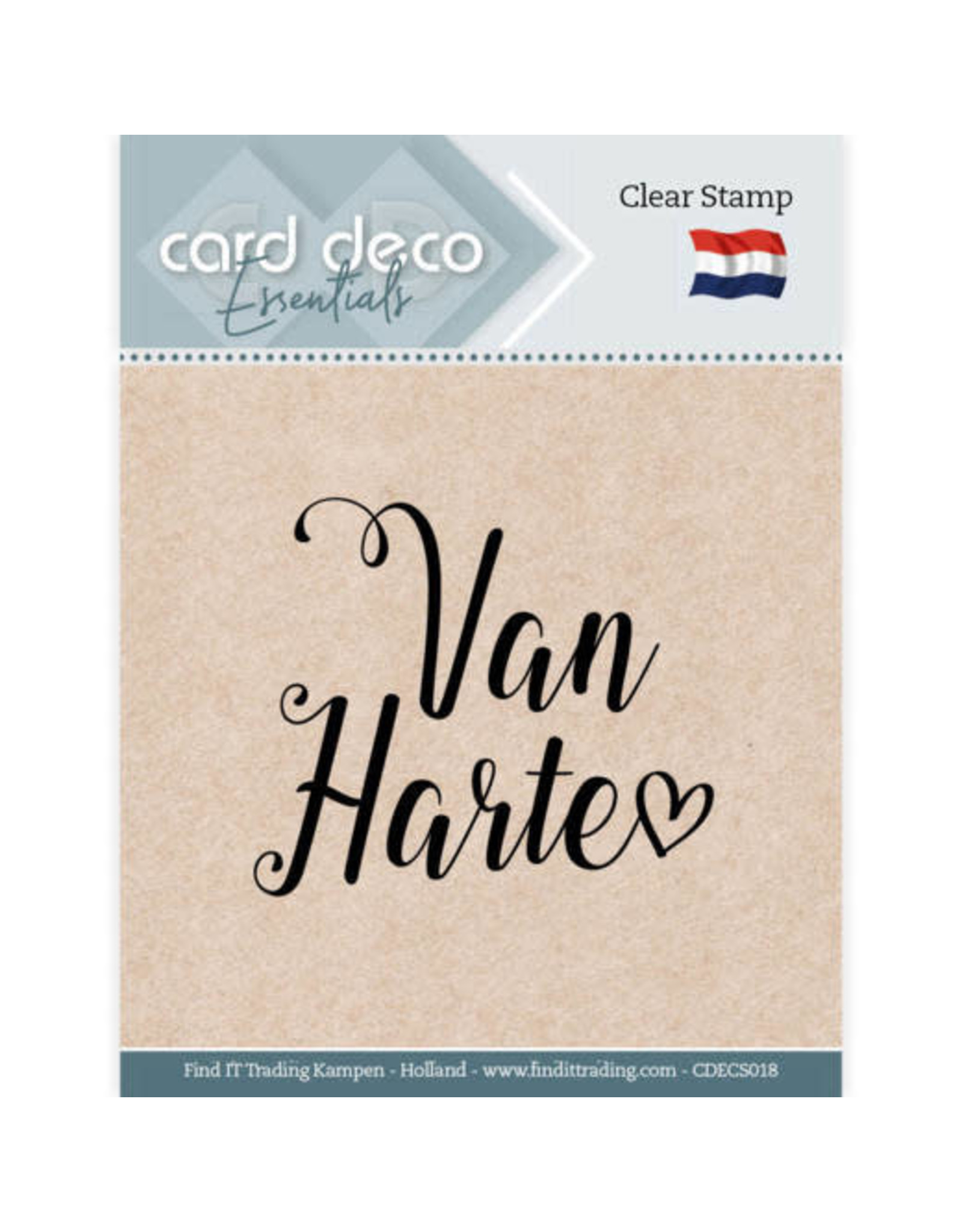 Card Deco Card Deco Essentials - Clear Stamps - Van Harte