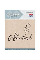 Card Deco Card Deco Essentials - Clear Stamps - Gefeliciteerd