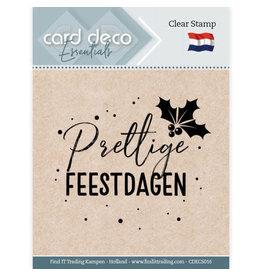 Card Deco Card Deco Essentials - Clear Stamps - Prettige Feestdagen