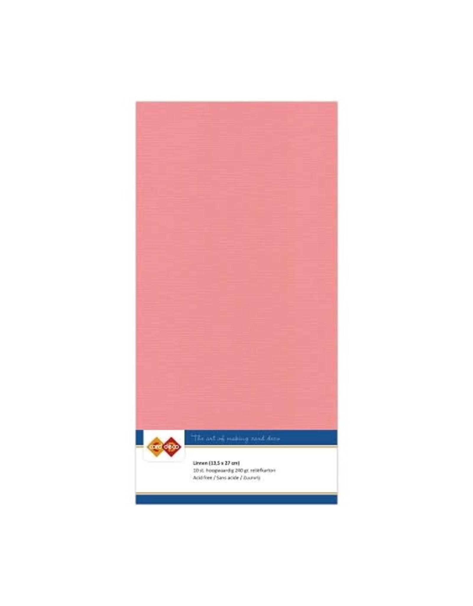 Card Deco Card Deco essentials Linnenkarton - Vierkant - oudroze
