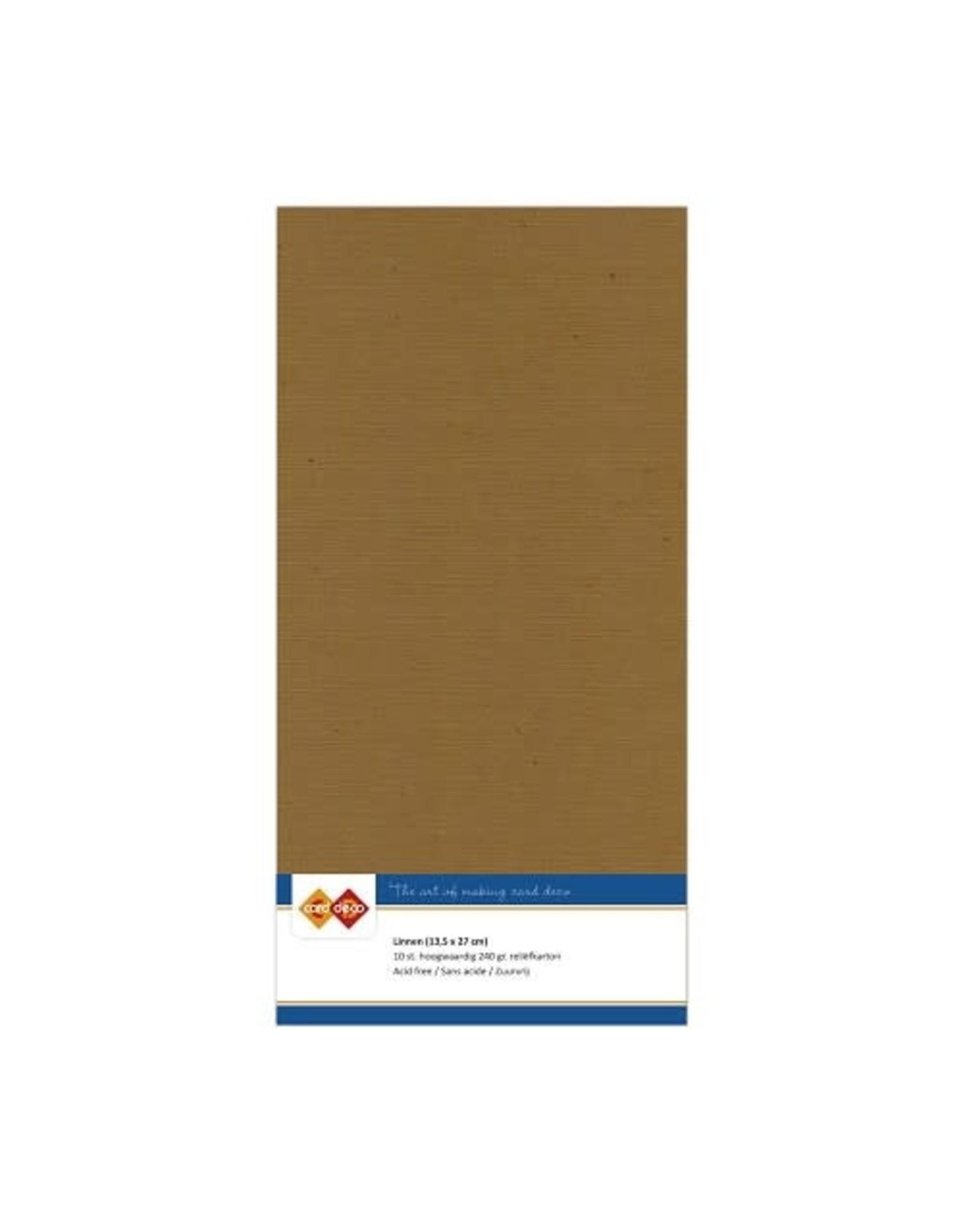Card Deco Card Deco essentials Linnenkarton - Vierkant - kraft mokka