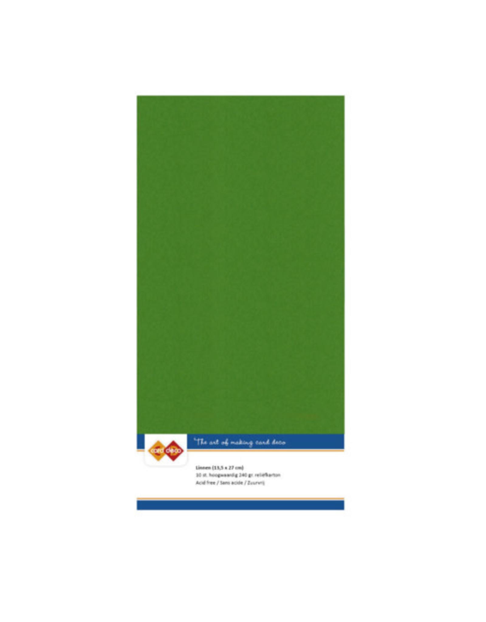 Card Deco Card Deco essentials Linnenkarton - Vierkant - fern green