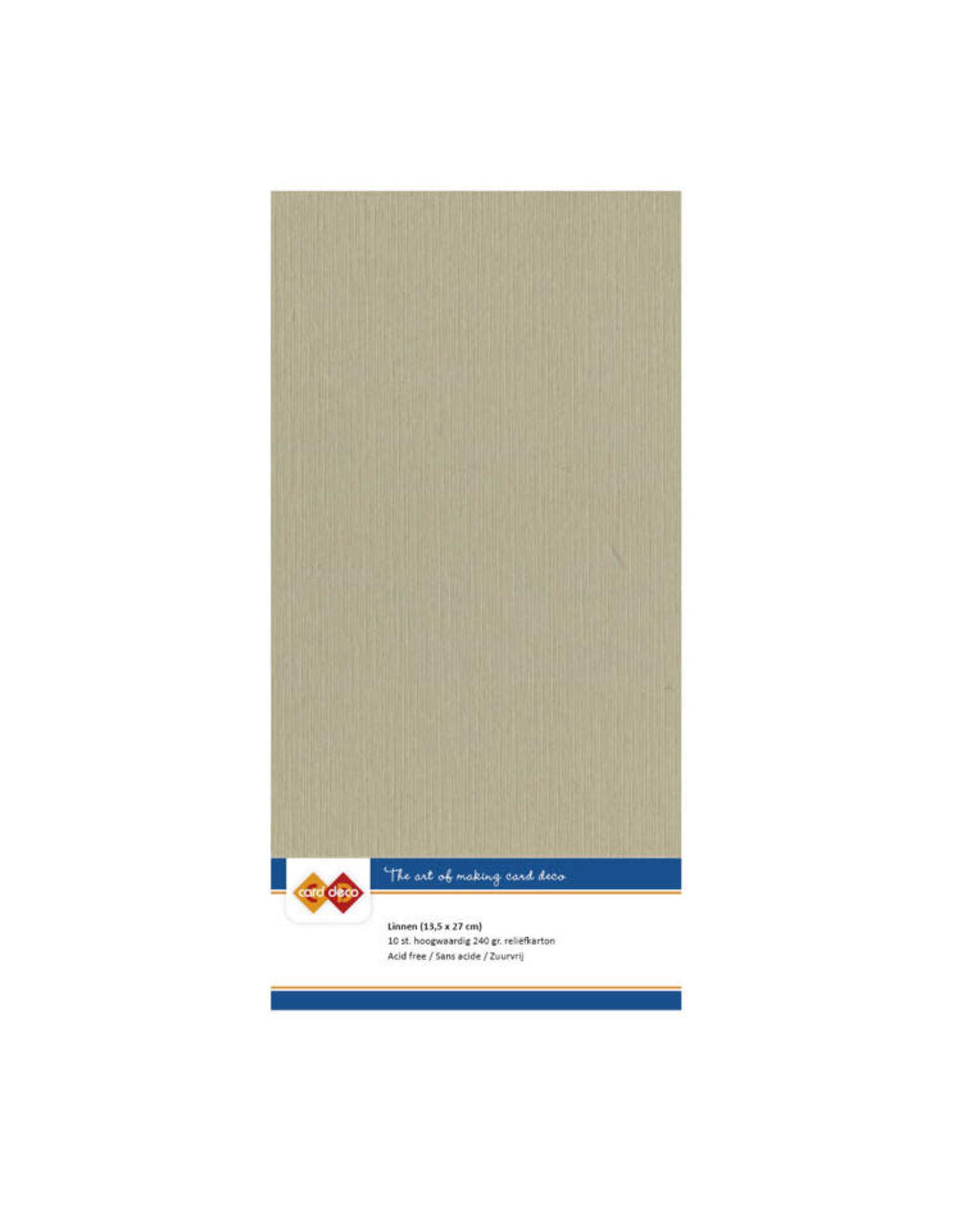 Card Deco Card Deco essentials Linnenkarton - Vierkant - taupe