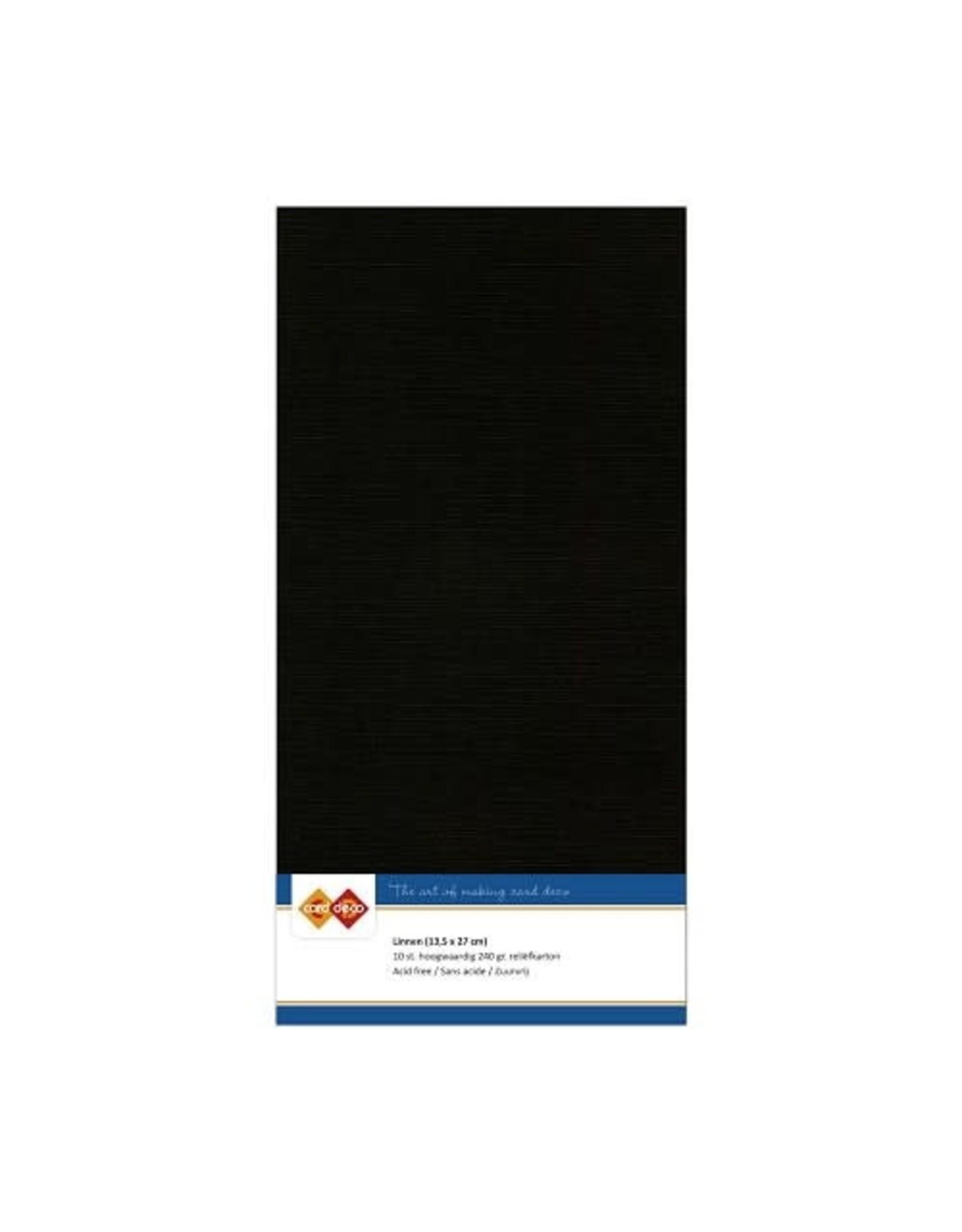 Card Deco Card Deco essentials Linnenkarton - Vierkant - zwart