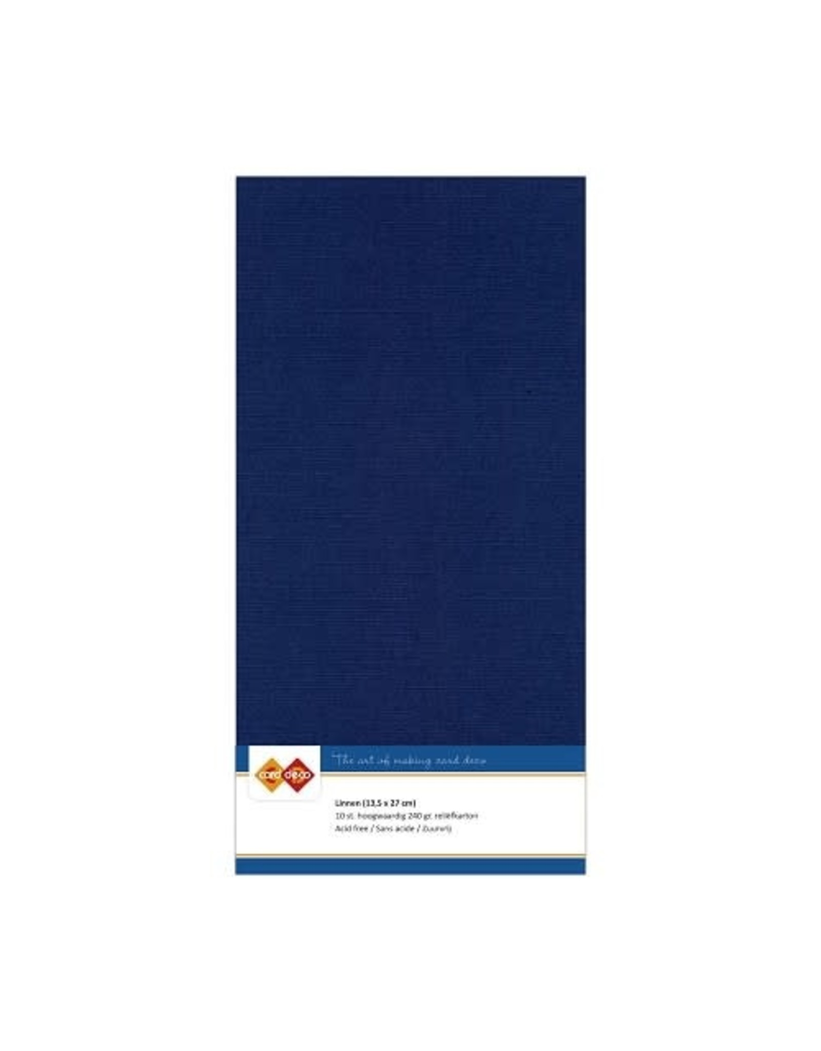 Card Deco Card Deco essentials Linnenkarton - Vierkant - dark blue