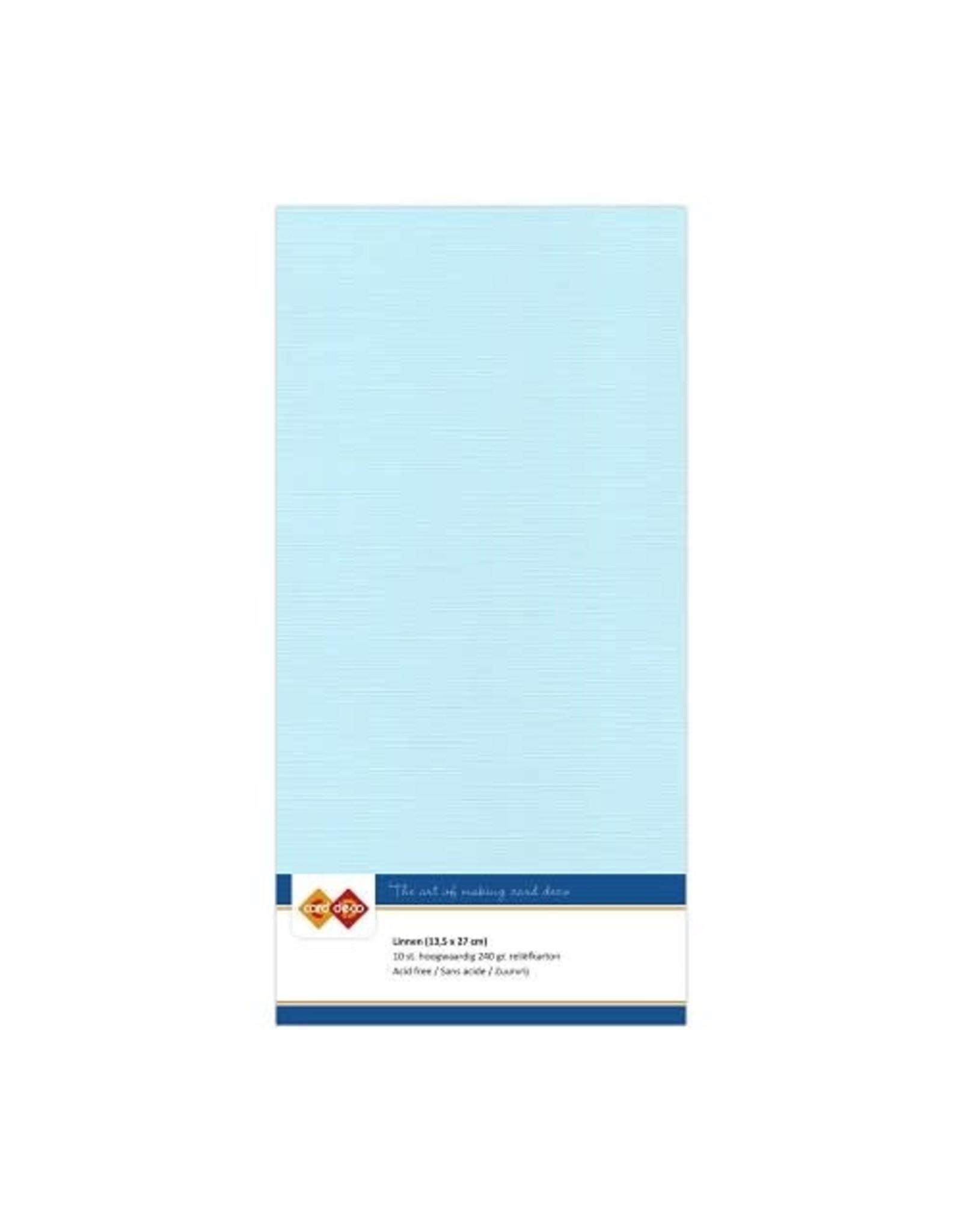 Card Deco Card Deco EssentialsLinnenkarton - Vierkant - Babyblauw