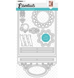 Studio Light Studio Light Embossing Die Cut Stencil Journal Essentials nr.341 STENCILSL341 160x297mm
