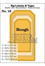 Crealies Crealies Big Labelzz & Tagzz no. 19 CLBigLT19 10,3x20,5cm