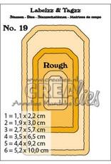 Crealies Crealies Labelzz & Tagzz no. 19 CLLT19 5,2x10cm