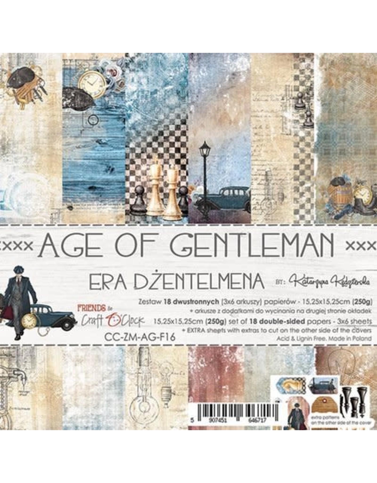 Craft O'Clock Craft O'Clock  Age of Gentleman 15.2 x 15.2 cm