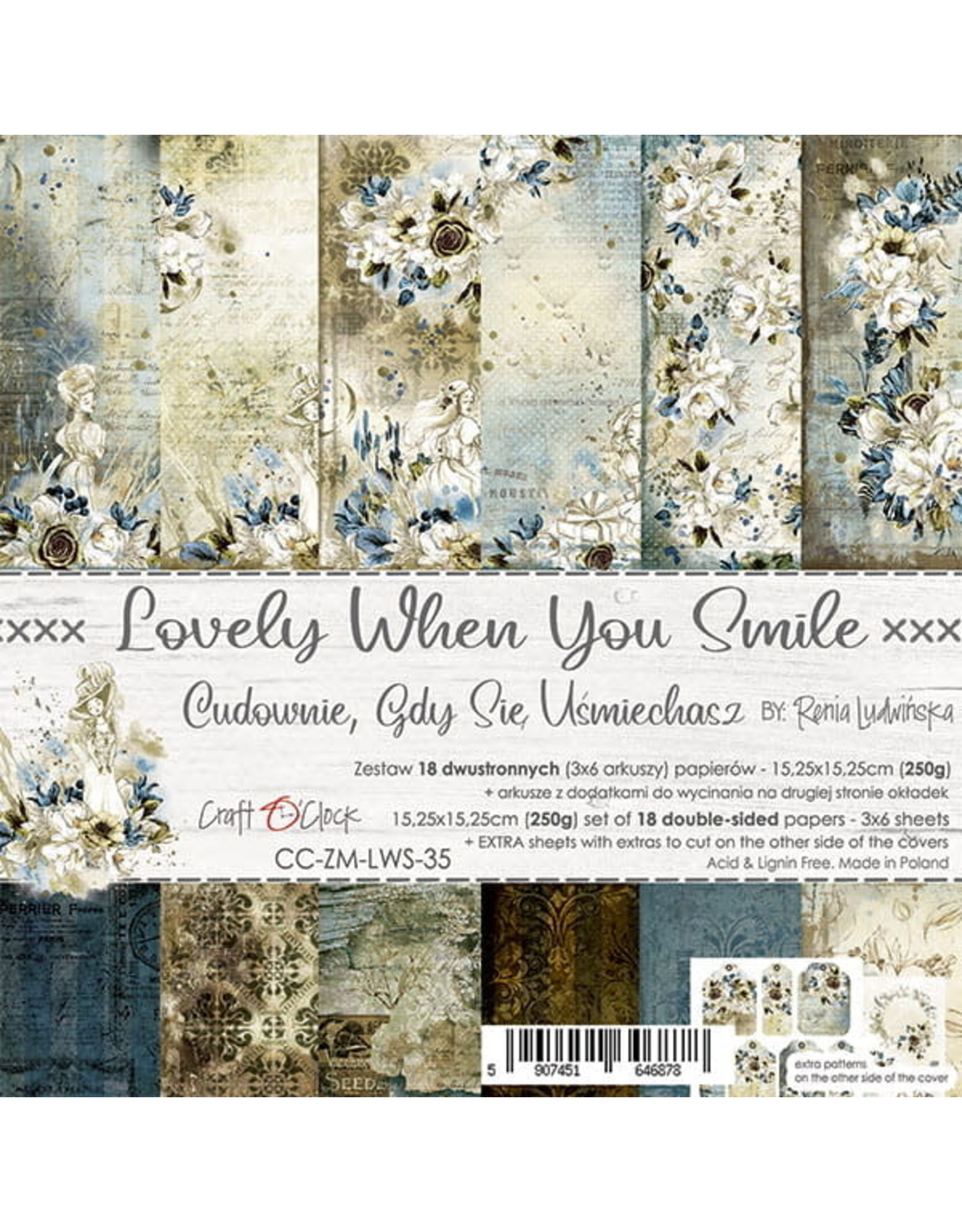 Craft O'Clock Craft O'Clock  Lovely when you smile 15.2 x 15.2 cm