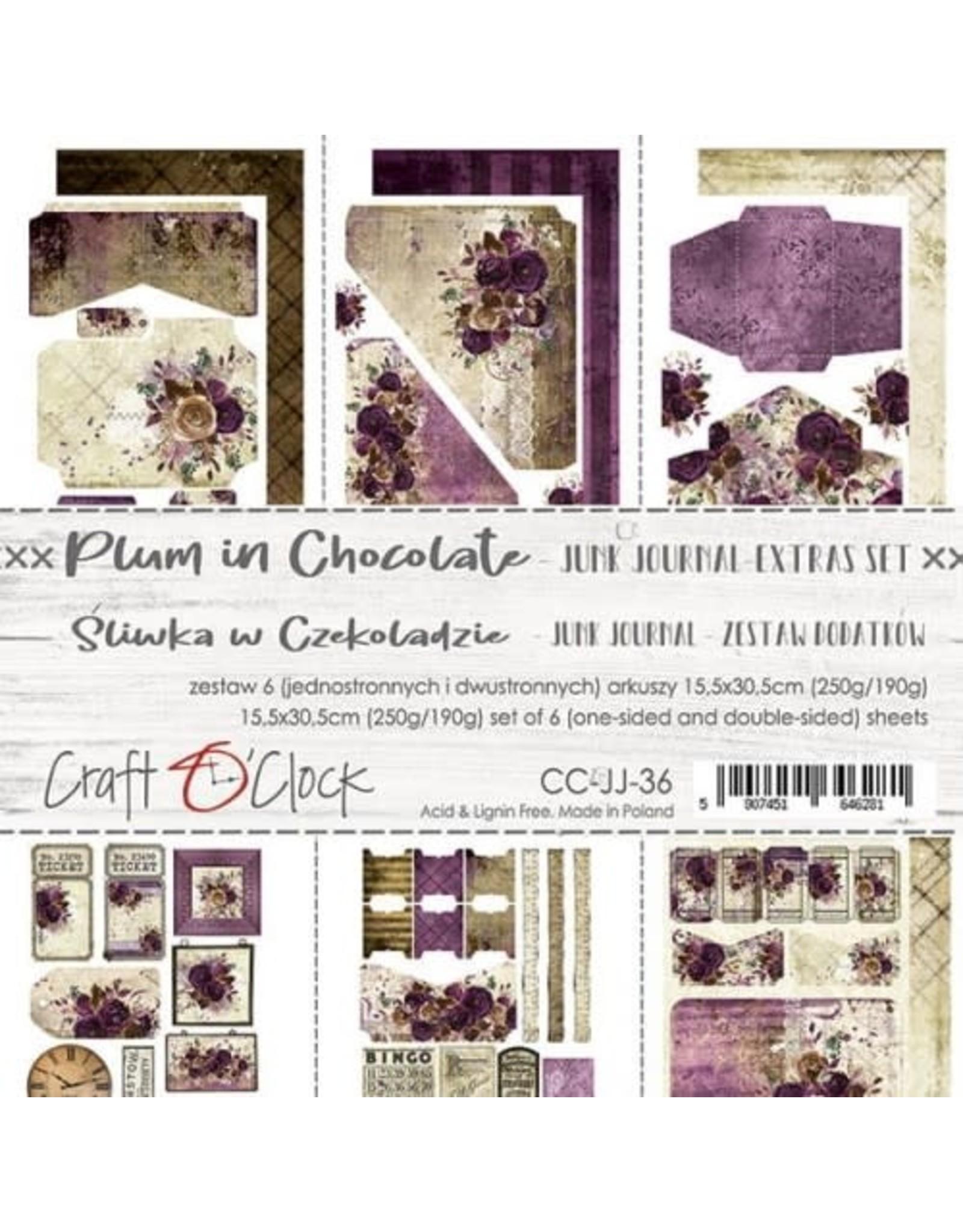 Craft O'Clock Craft O'Clock  Plum in Chocolate  Junk journal extra set