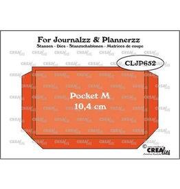 Crealies Crealies Journalzz & Pl Pocket Medium (10,4 cm) + layer up CLJP652 64 x 104 mm
