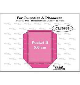 Crealies Crealies Journalzz & Pl Pocket Small (5,0 cm) + layer up CLJP653 50 x 66 mm