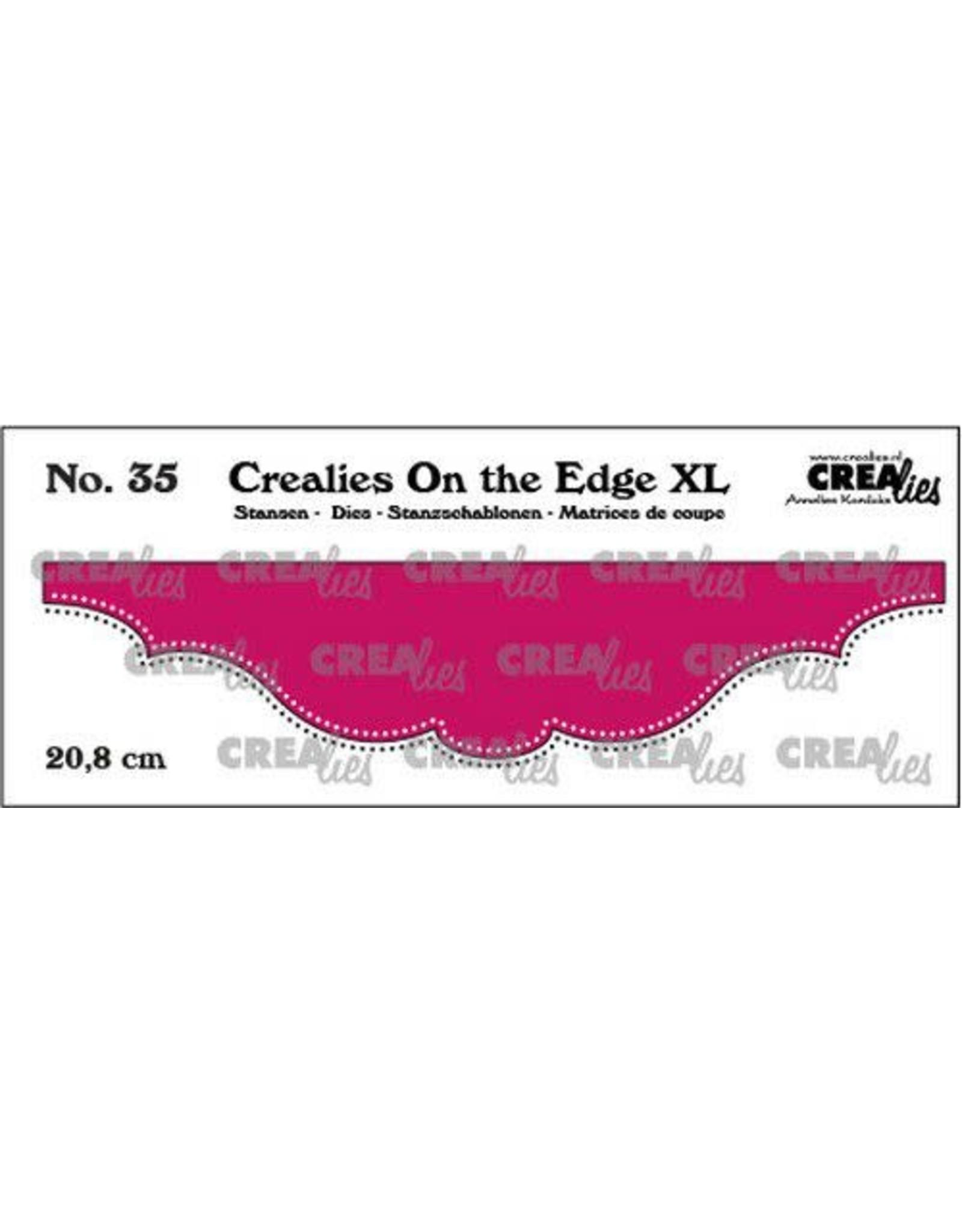 Crealies Crealies On the edge XL Die stans no 35 CLOTEXL35 20,8cm