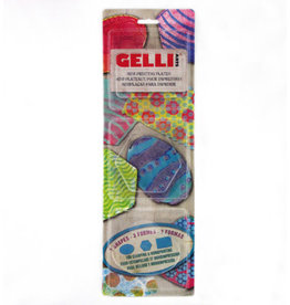 Gelli art Gelli Arts - Gel Printing Plate set ovaal,hexagon,Rectangle GELOHR