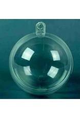 Craft Emotions Plastic bal transparant 7 cm