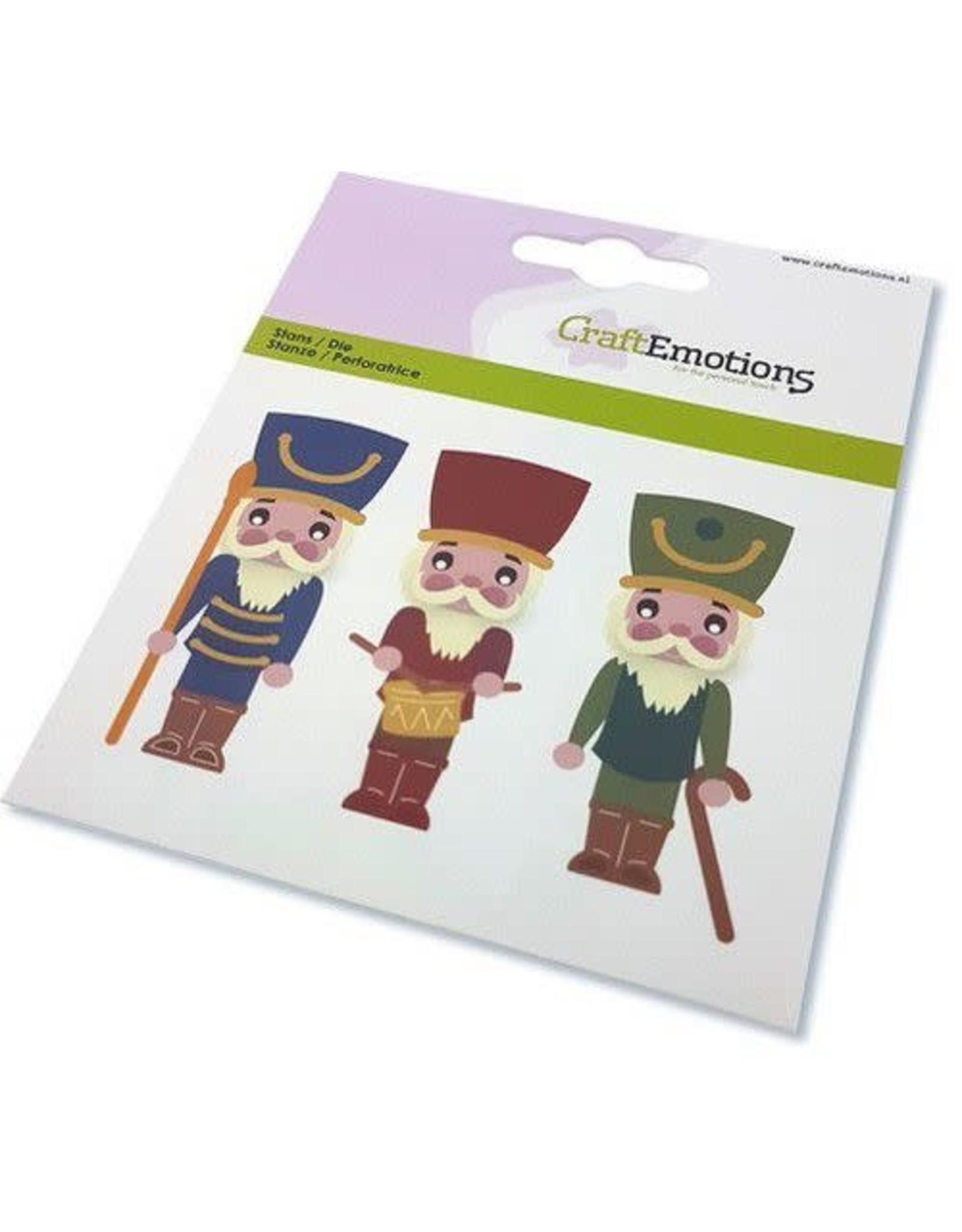 Craft Emotions CraftEmotions Die - kerst - notenkraker soldaat Card 11x9cm - 82 mm