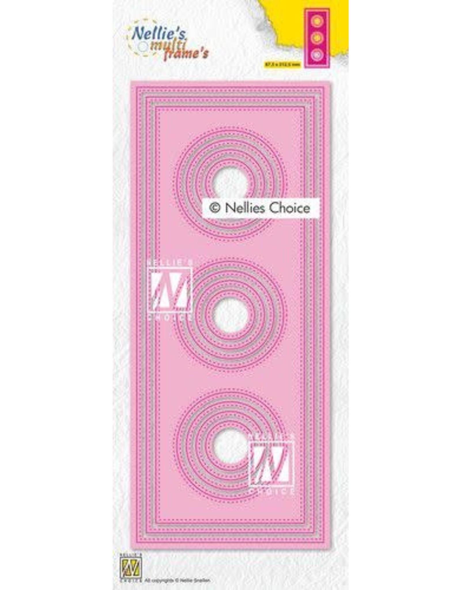 Nellie's Choice Nellies Choice Multi Frame Die - Slimline cirkel MFD139 87,5x212,5mm