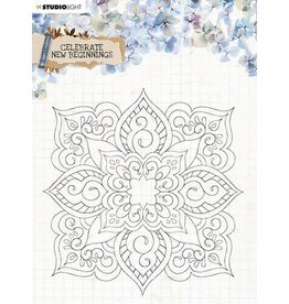 Studio Light Studio Light Clear Stamp background Celebrate new beginnings nr.519 STAMPCNB519 150x150mm