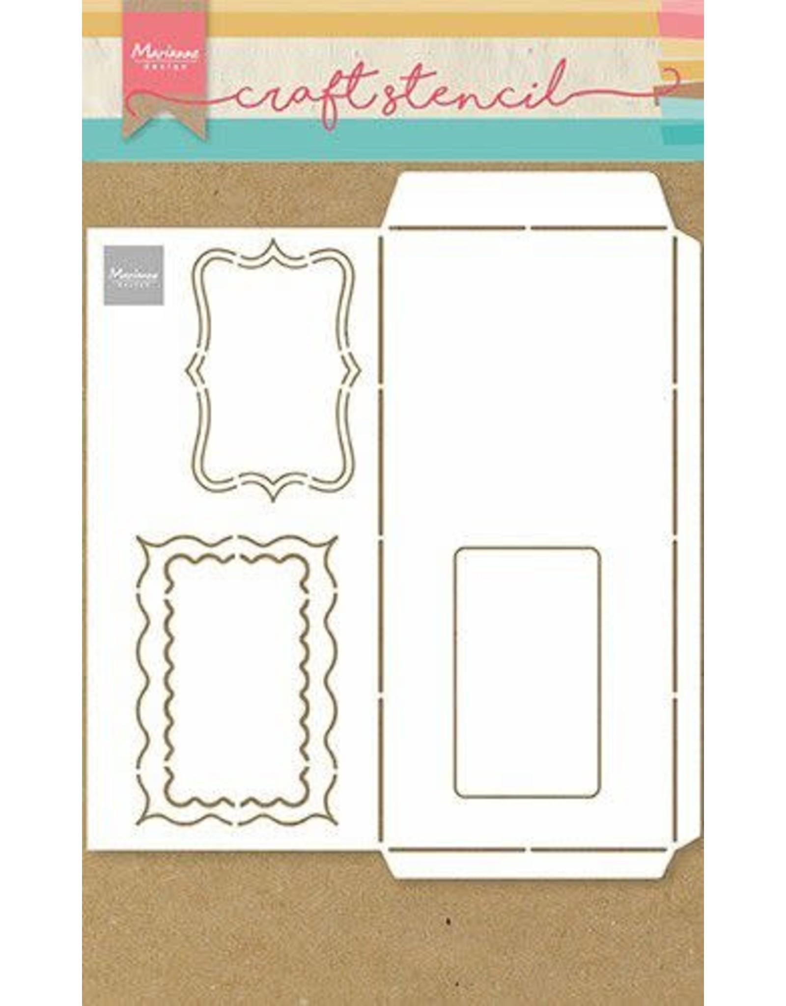 Marianne Design Marianne D Craft Stencil - A4 - Slimline envelop PS8079