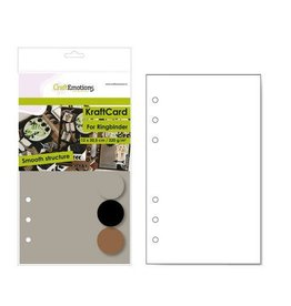 Craft Emotions CraftEmotions karton kraft Ringband mix 12 vel 12x20,5cm - 220 gr - 6 Ring A5