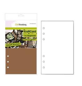 Craft Emotions CraftEmotions karton kraft Ringband bruin 12 vel 12x20,5cm - 220 gr - 6 Ring A5