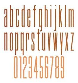 Sizzix Sizzix Thinlits Die Set - 36PK Alph. Stretch Lower & Numbers 665207 Tim Holtz