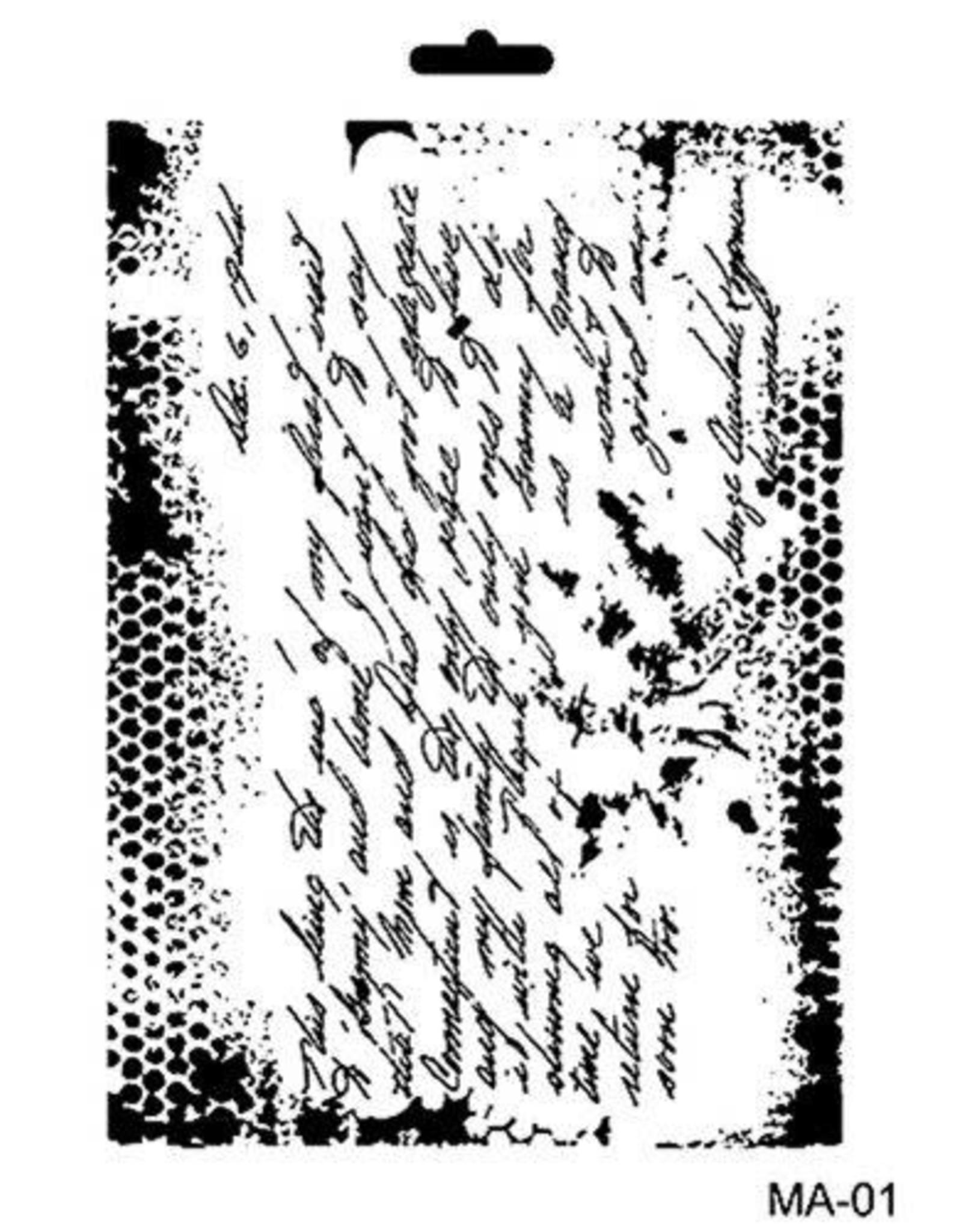 Cadence Cadence Mask Stencil MA - geschreven tekst 03 021 0001 21X29cm