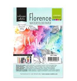 Vaessen Creative Vaessen Creative Florence • Aquarelpapier A5 smooth White 200gr 100vellen
