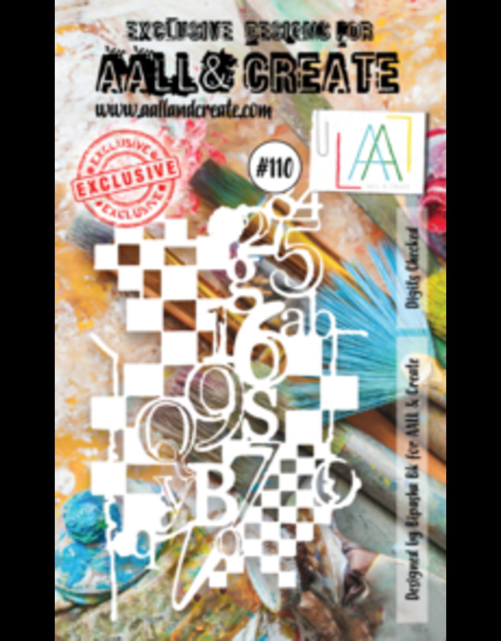 Aall& Create Aall & Create A6 stencil #110