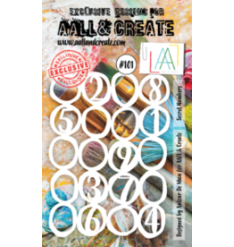Aall& Create Aall & Create A6 stencil #101