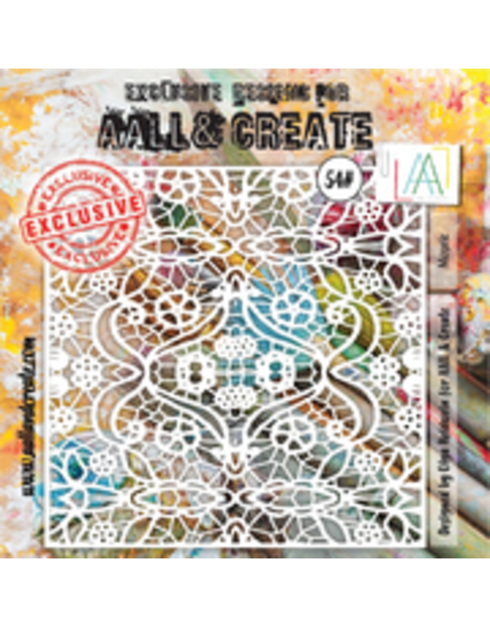 Aall& Create Aall & Create 6' x 6' stencil #54