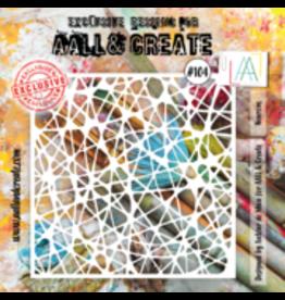 Aall& Create Aall & Create 6' x 6' stencil #104