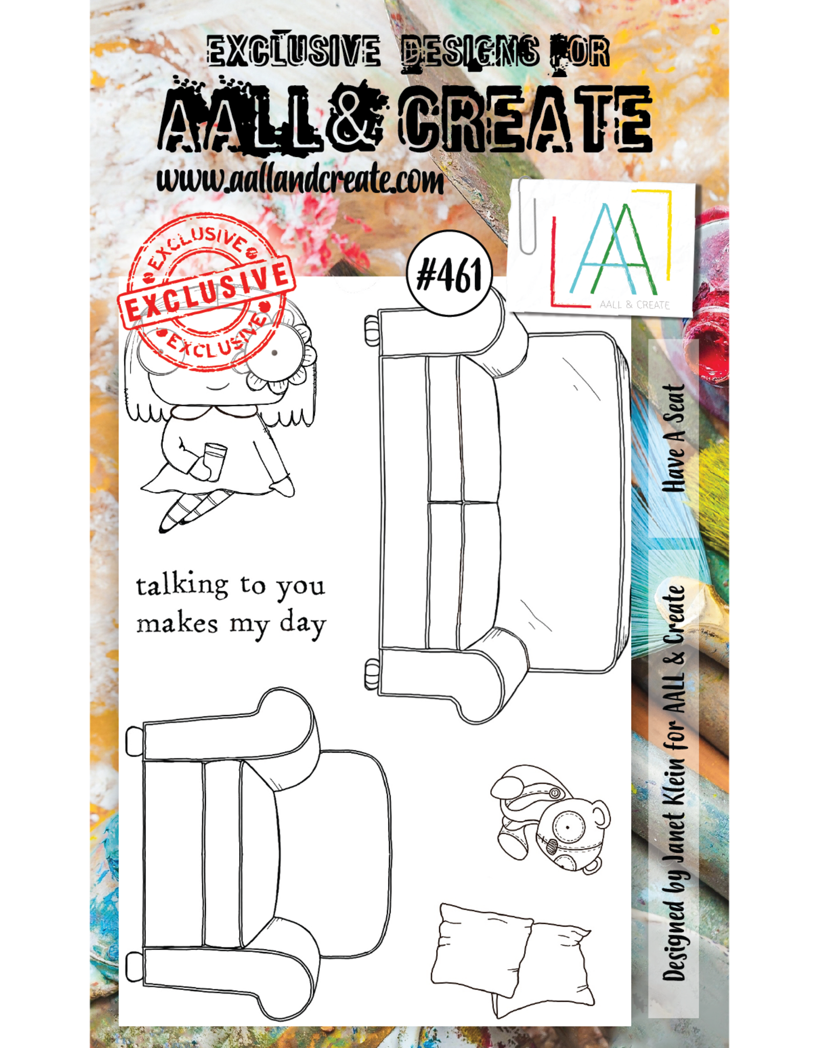 Aall& Create Aall & Create  A6 stamps #461