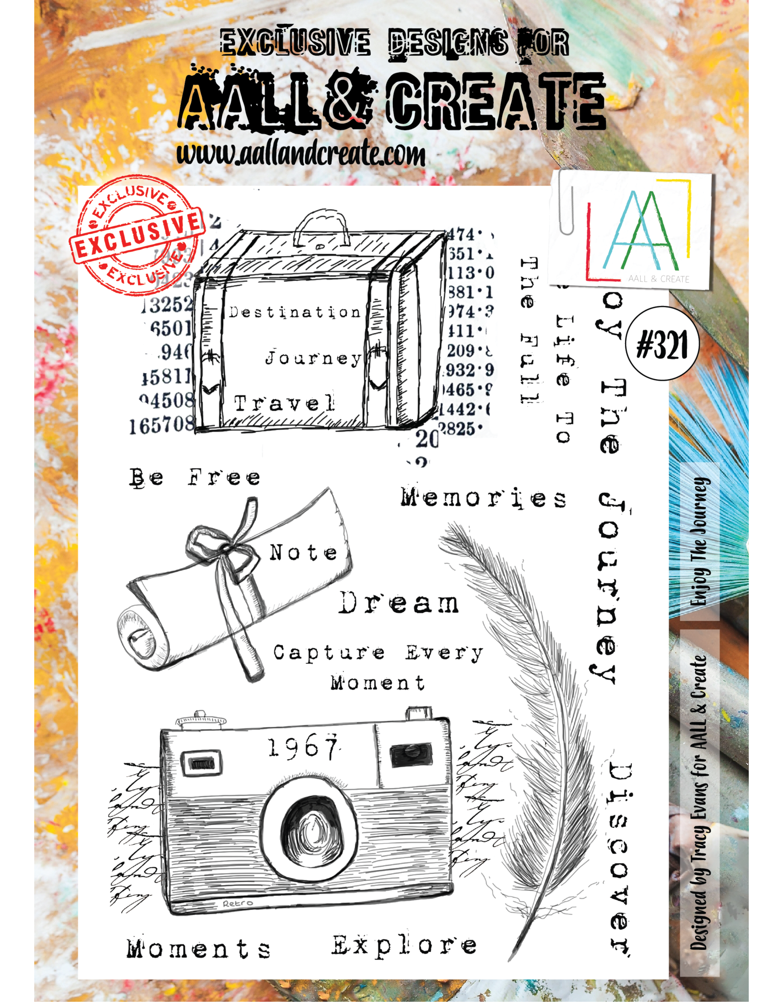 Aall& Create Aall & Create  A4 stamps #321